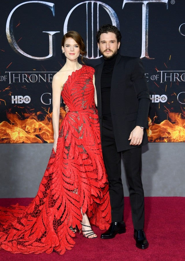 Rose Leslie Kit Harington Game Of Thrones Season 8 Premiere