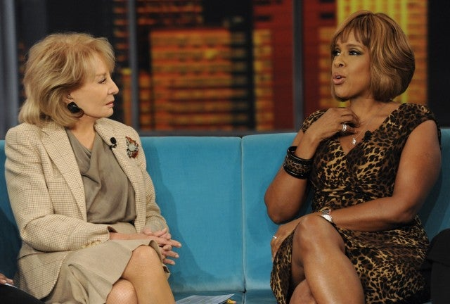 Barbara Walters and Gayle King