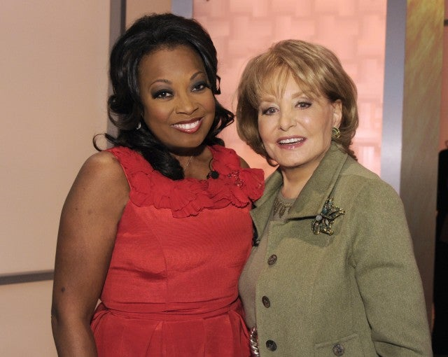 Star Jones and Barbara Walters
