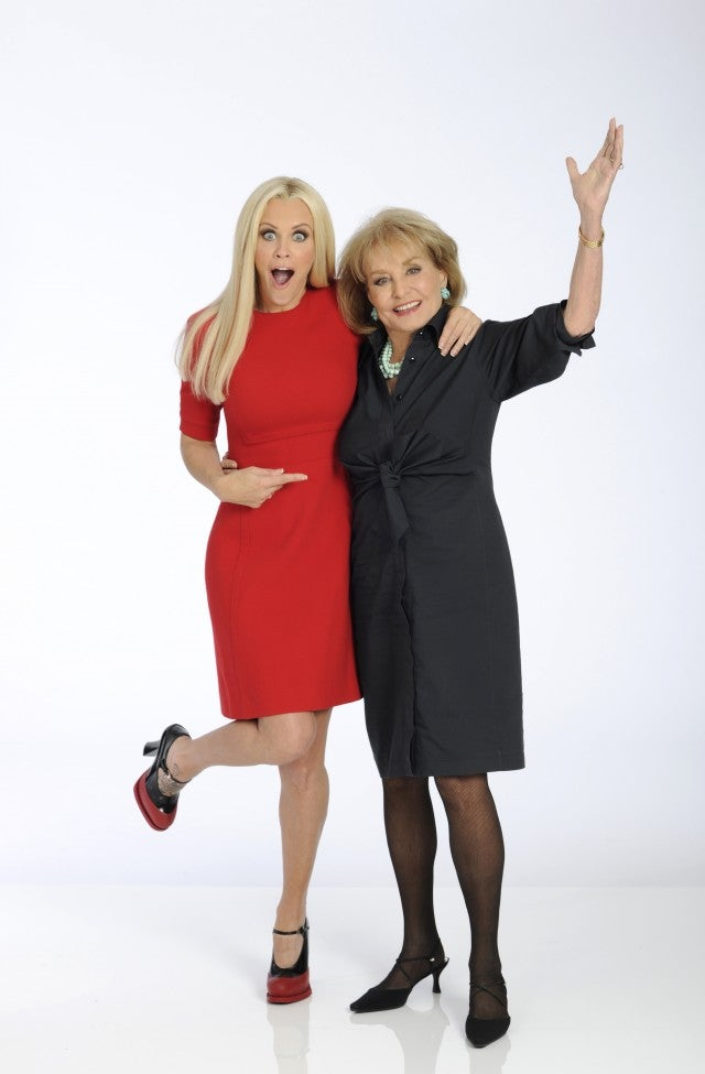 Jenny McCarthy and Barbara Walters