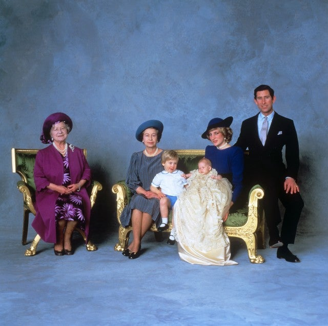 Prince Harry, Prince William, Princess Diana, Queen Elizabeth II, The Queen Mother