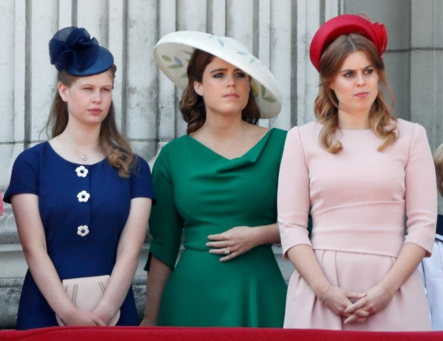 Lady Louise Windsor, Princess Eugenie and Princess Beatrice