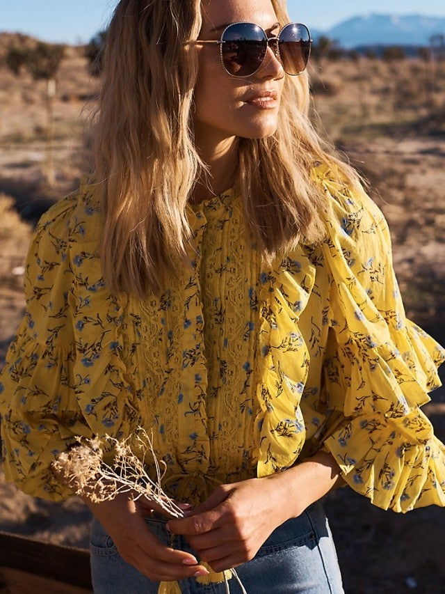 Happy x Nature yellow blouse
