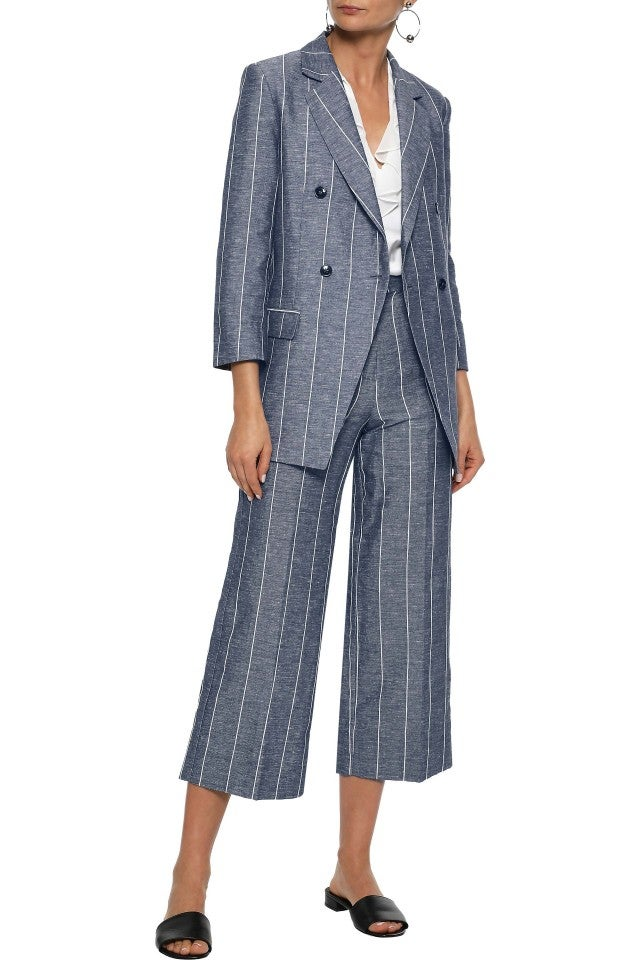 Iris and Ink pinstripe culotte suit