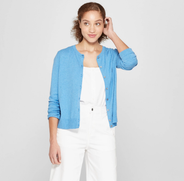 A New Day blue cardigan