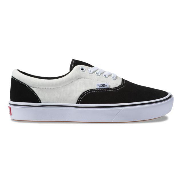 Vans comfycush black and white canvas shoes