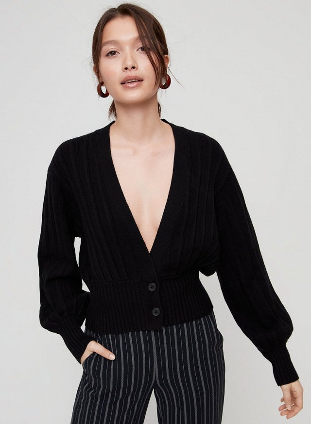 Wilfred black thais cardigan