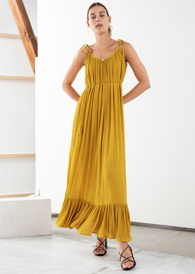 & Other Stories mustard yellow maxi dress