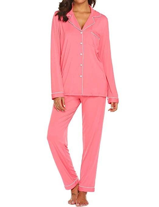 Ekouaer pink pajamas