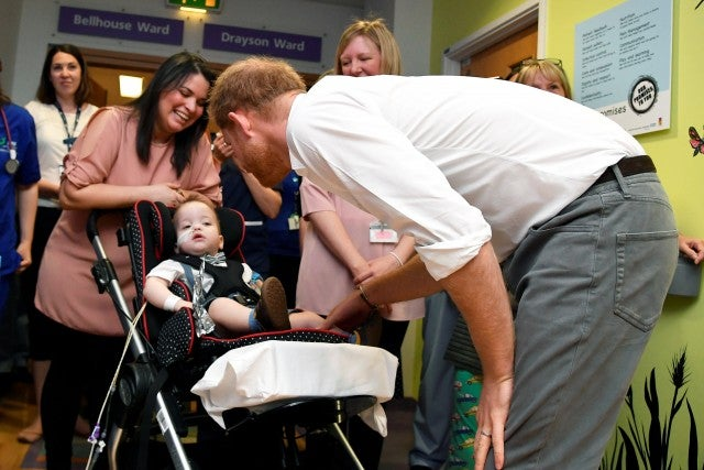 Children's hospital among engagements for new father Harry