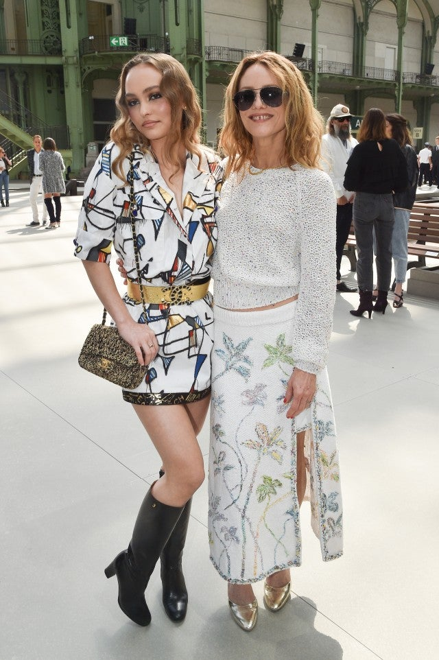 Lily-Rose Depp and Vanessa Paradis at Chanel cruise 2020 show