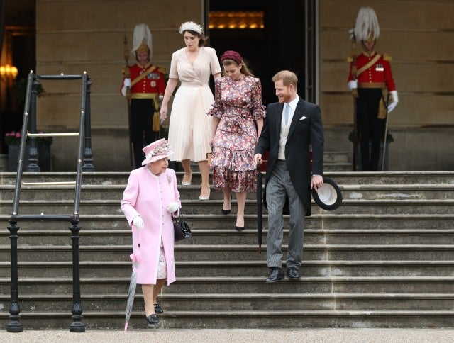 Captains meet Queen Elizabeth and Prince Harry at Buckingham Palace