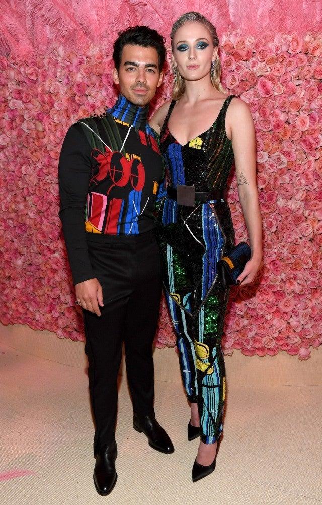 Joe Jonas and Sophie Turner at the 2019 Met Gala - cocktails