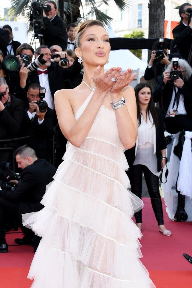 Bella Hadid Gives Off Ethereal Angel Vibes In White Gown At