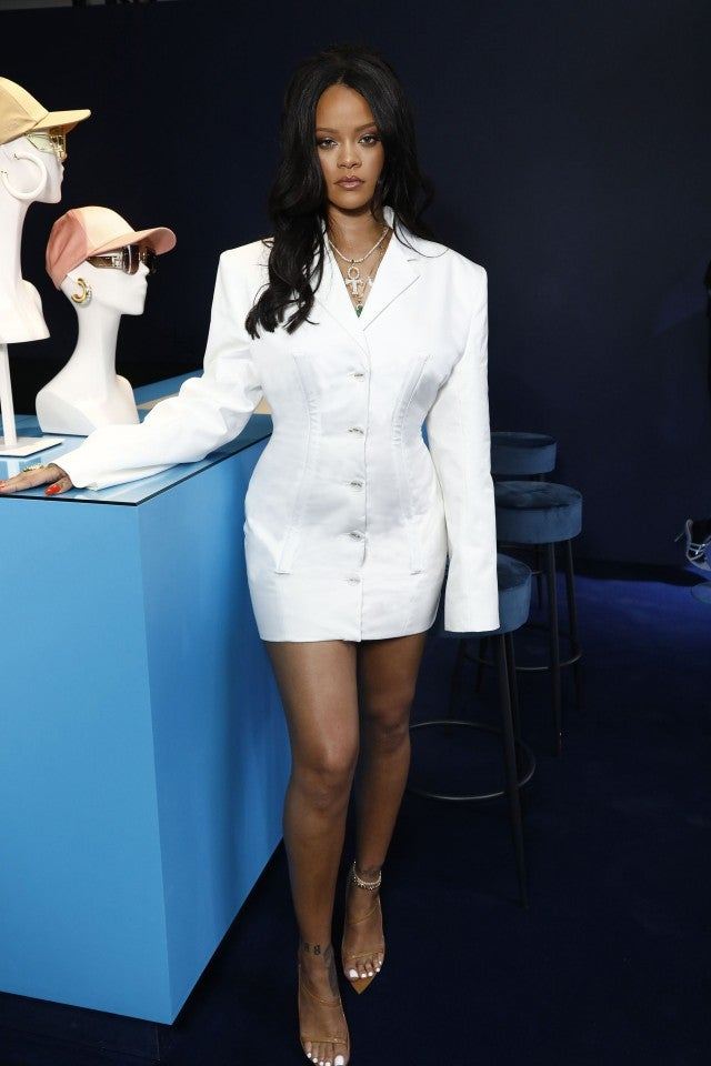 Rihanna at Fenty launch in Paris