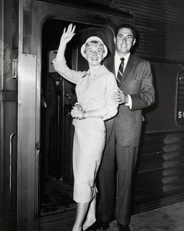 Doris Day, singing star, and her husband, Martin Melcher, in New York.