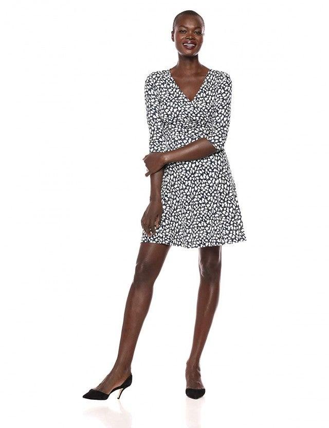 Lark & Ro printed wrap dress