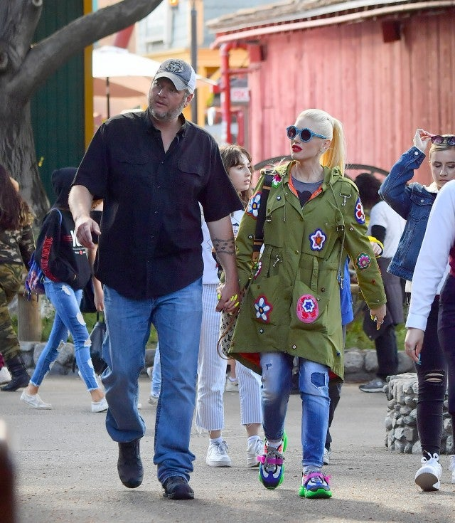 Gwen Stefani And Blake Shelton Step Out With Her Kids