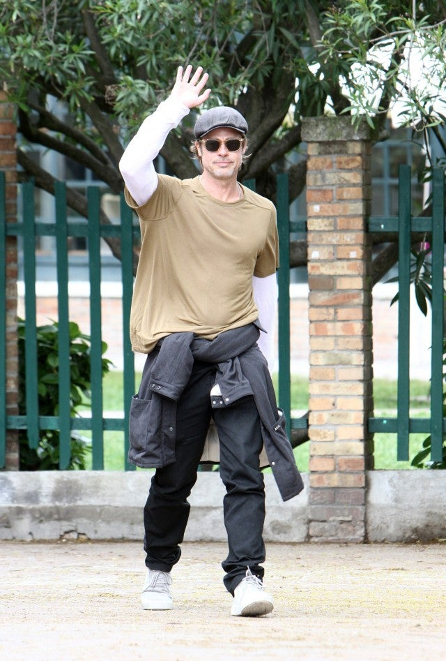 Brad Pitt spotted at Venice Biennale of Art.