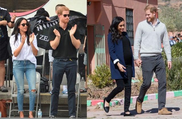 Meghan Markle in skinny jeans