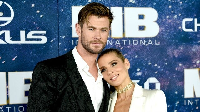 Chris Hemsworth and Elsa Pataky Men In Black International Premiere