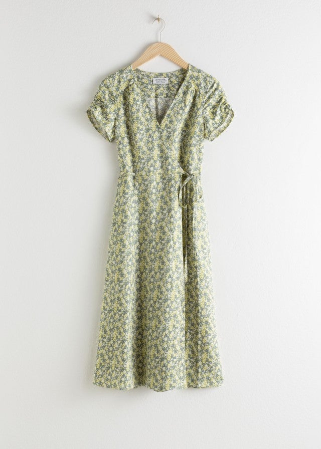 & Other Stories floral wrap dress
