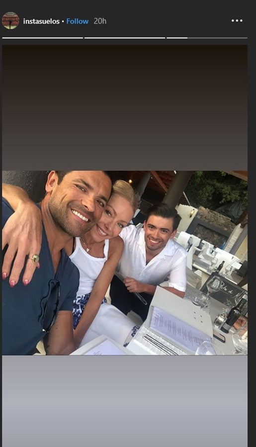 Mark Consuelos and Kelly Ripa with son Michael