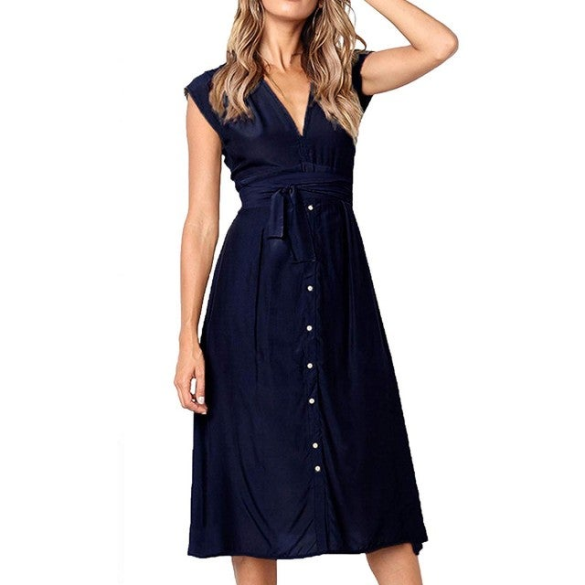 Ecowish amazon buton down dress