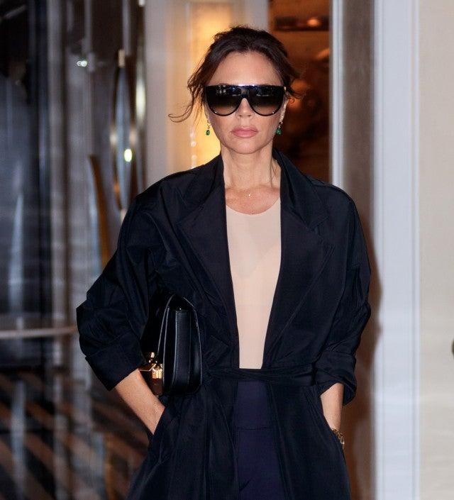 Victoria Beckham in flat top sunglasses
