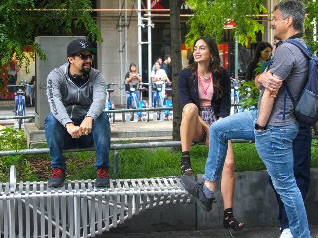 Lin-Manuel Miranda Melissa Barrera In The Heights Set