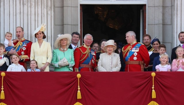 Royal Family Trooping the Colour Balcony 2019