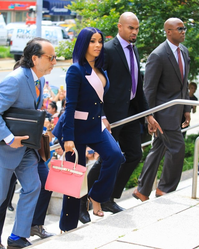 Cardi B courthouse full outfit