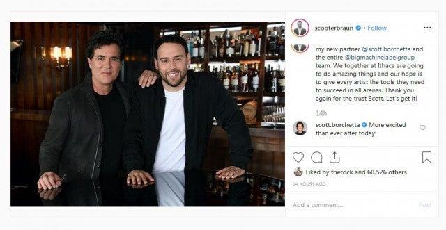 Scooter Braun Instagram