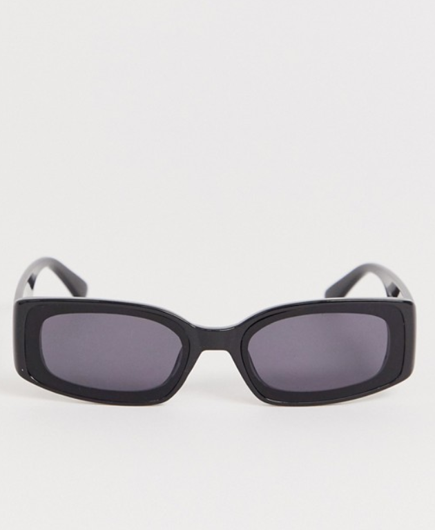 AJ Morgan black rectangle sunglasses