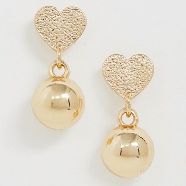 ASOS heart drop earrings