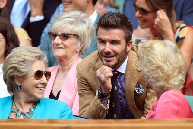 David Beckham at Wimbledon