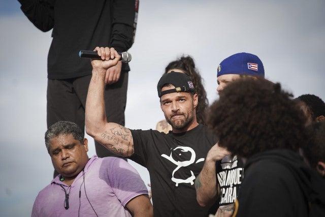Ricky Martin Puerto Rico Protest