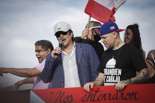 Benicio Del Toro Residente Puerto Rico Protest