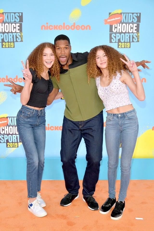 michael strahan isabella sophia kids choice sports awards 2019