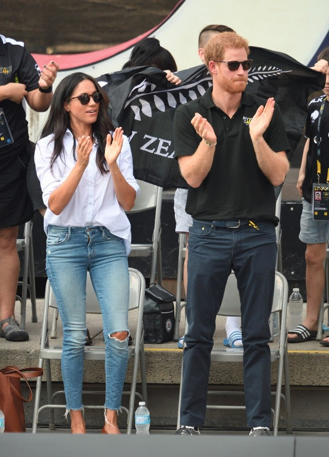 Meghan Markle in Mother jeans at Invictus Games 2017
