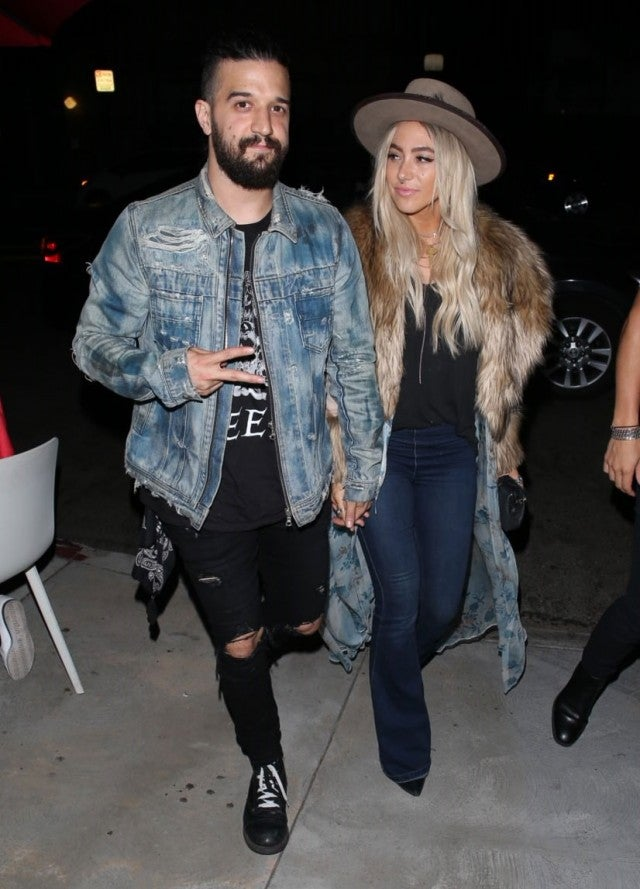 Mark Ballas and wife at weedmaps museum