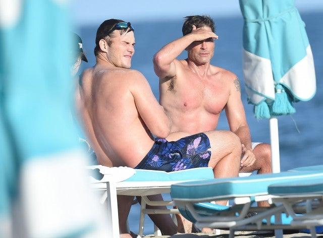 Chris Pratt and Rob Lowe in Santa Barbara