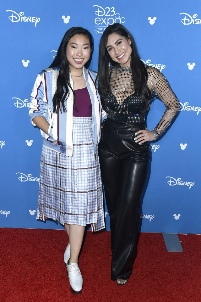 Awkwafina and Cassie Steele d23
