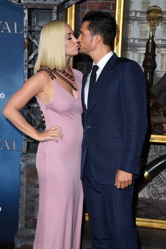 Orlando Bloom and Katy Perry at the premiere of 'Carnival Row' on Aug. 21