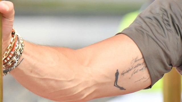 Right upper arm tattoo