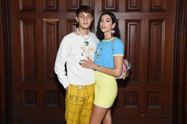 Dua Lipa and Anwar Hadid at Marc Jacobs Runway Show During New York Fashion Week