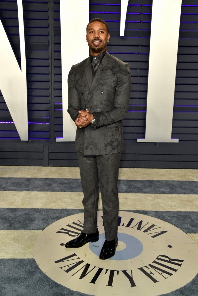 Michael B. Jordan at Vanity Fair Oscars Party 2019