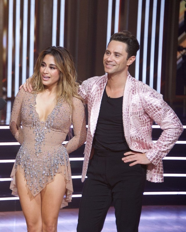 Ally Brooke and Sasha Farber DWTS