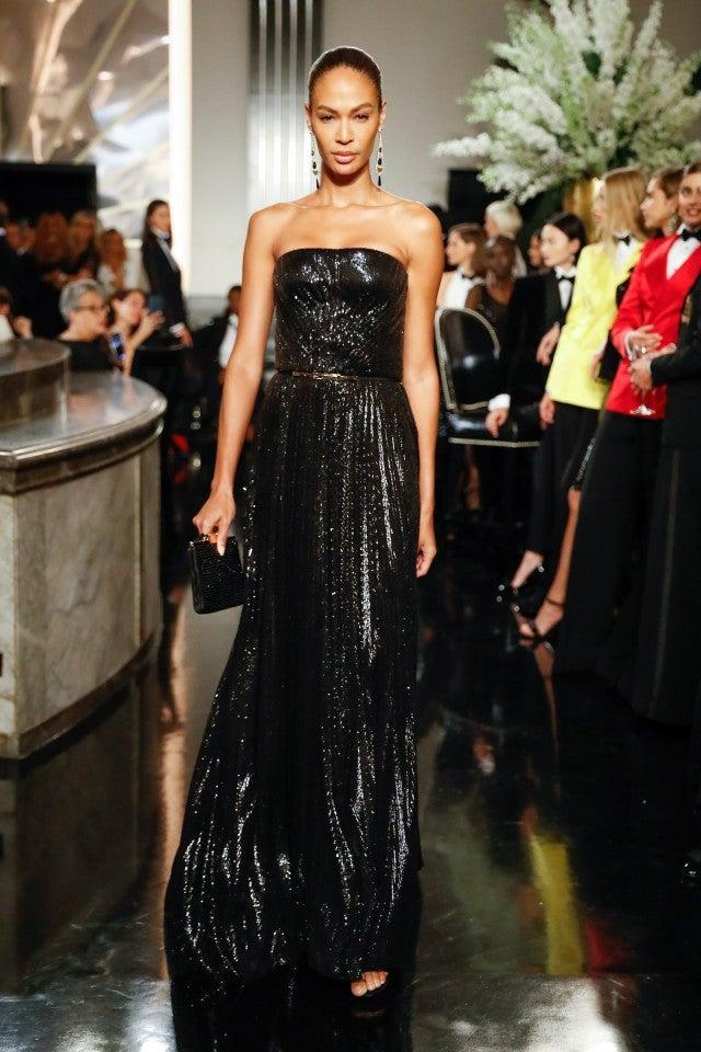 Joan Smalls Ralph Lauren fashion show