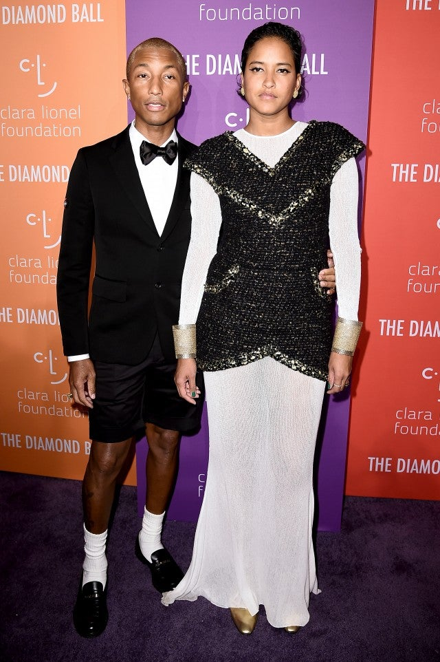 Pharrell Williams and Helen Lasichanh 2019 Diamond Ball